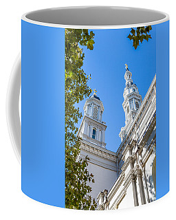 Coffee Mug featuring the photograph Two Spires by Susan Leonard