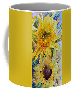 Two Sunflowers Coffee Mug by Beverley Harper Tinsley