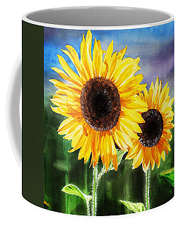 Two Suns Sunflowers Coffee Mug
