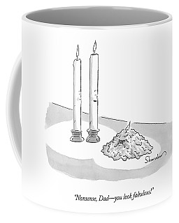 Two Tall Candles Talk To A Lumpy Coffee Mug