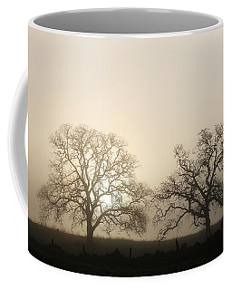 Two Trees In Fog Coffee Mug