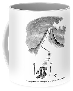 Two Tribesmen With Feather Headdresses Sit Coffee Mug