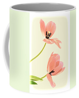 Two Tulips In Pink Transparency Coffee Mug