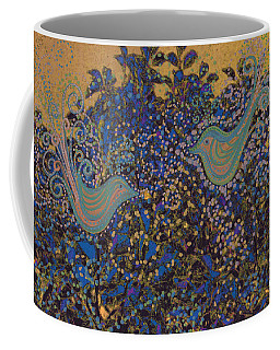 Two Turtle Doves In A Pear Tree Coffee Mug by First Star Art