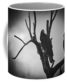 Coffee Mug featuring the photograph Two Vultures by Bradley R Youngberg