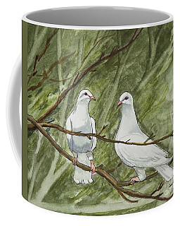 Two White Doves Coffee Mug