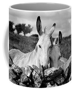 Two White Irish Donkeys Coffee Mug