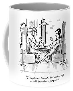 Two Women Drinking At A Restaurant Coffee Mug