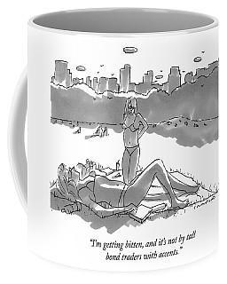 Two Women Sun Bathe In Central Park Coffee Mug