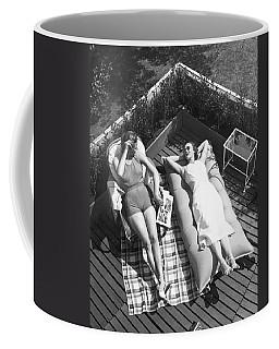 Two Women Sunbathing Coffee Mug