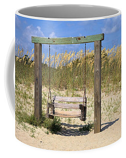 Coffee Mug featuring the photograph Tybee Island Swing by Gordon Elwell