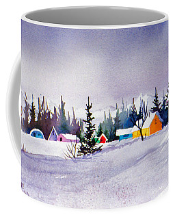Coffee Mug featuring the painting Tyonek Village Impression by Teresa Ascone