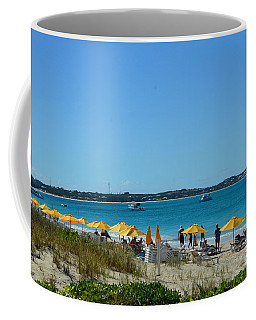 Coffee Mug featuring the photograph Typical Beach Day by Judy Wolinsky