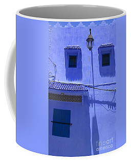 Coffee Mug featuring the photograph Typical Blue Facade In The Medina Of Asilah On Northwest Tip Of Atlantic Coast Of Morocco by Ralph A  Ledergerber-Photography