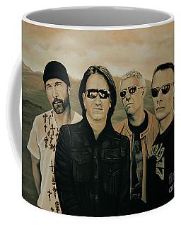 U2 Silver And Gold Coffee Mug
