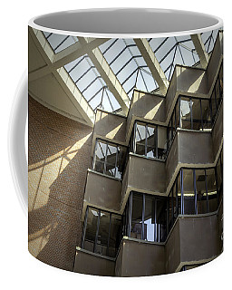Uf Marston Science Library Accordian Window Wall Coffee Mug by Lynn Palmer