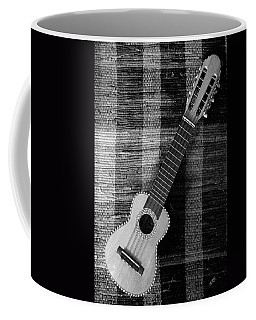 Ukulele Still Life In Black And White Coffee Mug