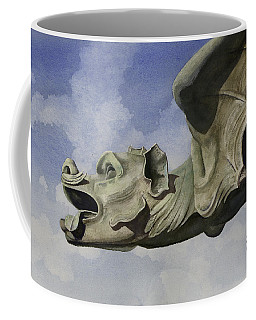 Coffee Mug featuring the painting Ulmer Munster Gargoyle by Sam Sidders