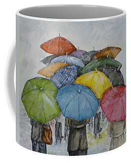 Umbrella Huddle Coffee Mug