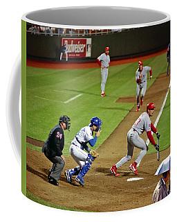 Umbrella Man At Royals Baseball Coffee Mug