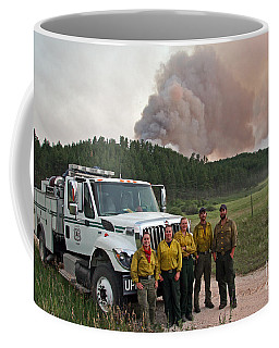 Umpqua Engine 25 On Myrtle Fire Coffee Mug