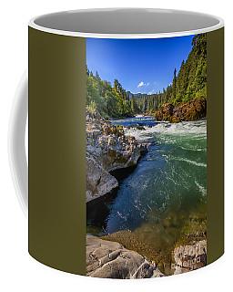 Coffee Mug featuring the photograph Umpqua River by David Millenheft