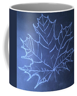 Coffee Mug featuring the drawing Uncertaintys Leaf by Jason Padgett