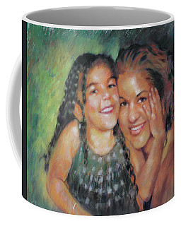 Coffee Mug featuring the drawing Unconditional Love by Viola El