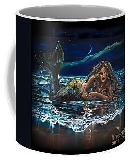 Under A Crescent Moon Mermaid Pillow Coffee Mug