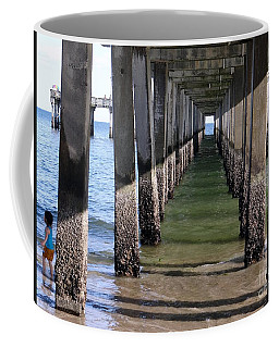 Coffee Mug featuring the photograph Under The Boardwalk by Ed Weidman