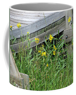 Coffee Mug featuring the photograph Under The Boardwalk by Laurel Powell