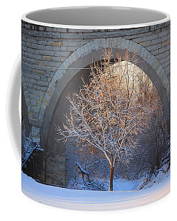 Coffee Mug featuring the photograph Under The Bridge by Viviana  Nadowski