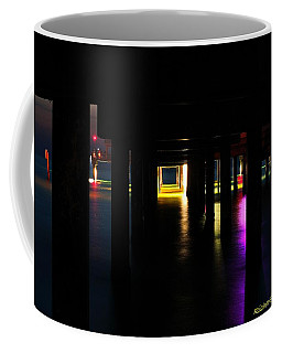 Coffee Mug featuring the photograph Under The Pier by Richard Zentner