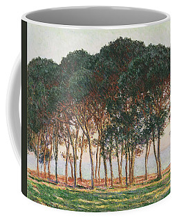 Under The Pines. Evening Coffee Mug by Claude Monet