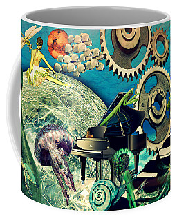 Coffee Mug featuring the digital art Underwater Dreams by Ally  White