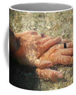 Coffee Mug featuring the photograph Underwater Hands by Leticia Latocki