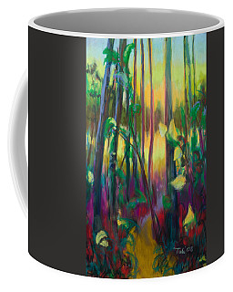 Coffee Mug featuring the painting Unexpected Path - Through The Woods by Talya Johnson