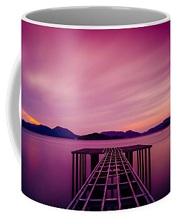 Unfinished Pier At Sunset Coffee Mug