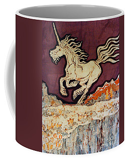 Unicorn Above Chasm Coffee Mug