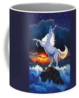 Unicorn Raging Sea Coffee Mug