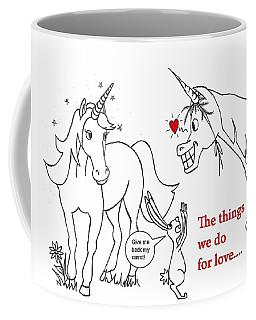 Unicorn Valentines Card Coffee Mug