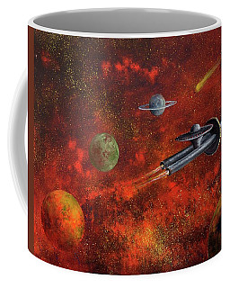 Unidentified Flying Object Coffee Mug by Randy Burns