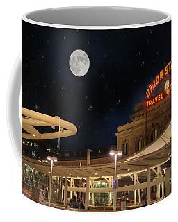 Union Station Denver Under A Full Moon Coffee Mug