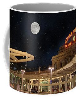Union Station Denver Under A Full Moon Coffee Mug