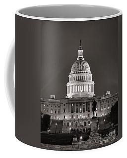 United States Capitol At Night Coffee Mug