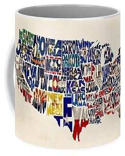 United States Flags Map Coffee Mug