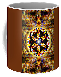 Coffee Mug featuring the drawing Universal Heart Fire by Derek Gedney