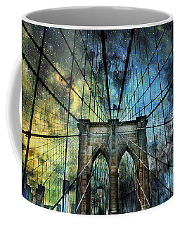 Universe And The Brooklyn Bridge Coffee Mug