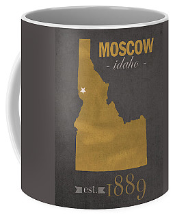 University Of Idaho Vandals Moscow College Town State Map Poster Series No 046 Coffee Mug