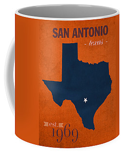 University Of Texas At San Antonio Roadrunners College Town State Map Poster Series No 111 Coffee Mug
